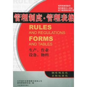 管理制度·管理表格:组织、人事、人力资源