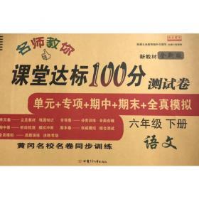 同步训练100分名师课堂六年级下册数学黄冈一课一练作业本人教RJ彩绘版